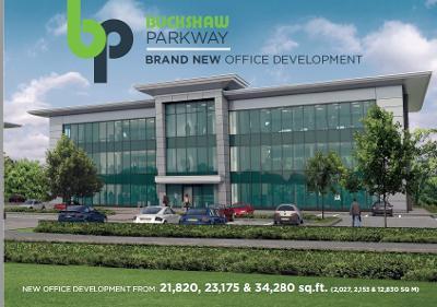 Digital image of the proposed new Buckshaw Parkway development