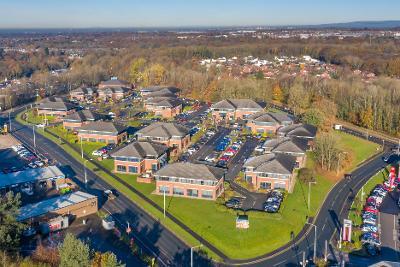 overhead image of Ackhurst Business Park
